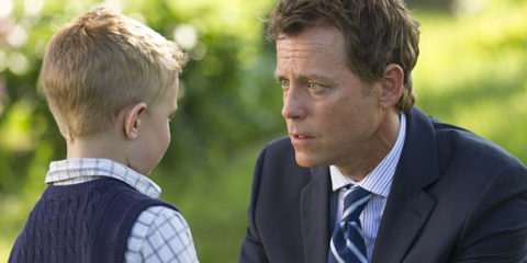 Colton Burpo (Connor Corum) tells Todd (Greg Kinnear) he met Pops in TriStar Pictures' HEAVEN IS FOR REAL.