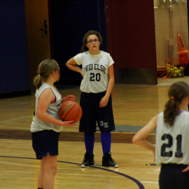 Seventh grade's first basketball game,they played against Chesaning. | Photo by Sabreena Soliz