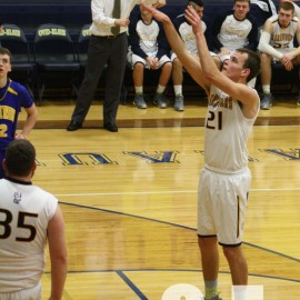 Travis Fahey shoots a free throw |Photo taken by: Summer Rademacher