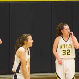 3 of the JV basketball girls catching a breath getting ready to go back out and win the game.|Photo by Mikayla Baese