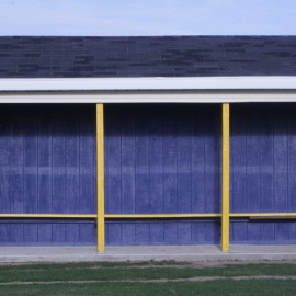 The soccer dugout is where all the plans go down. |Photo by Karen McClure.