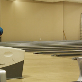 Junior Rayanne Peru lining up for a strike. |Photo by Jeanelle Courtnay